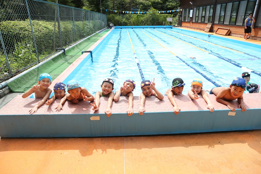 仲間と一緒に泳ぐよ!